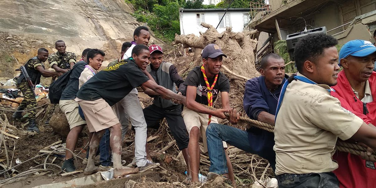 test Twitter Media - RT @scoutinside: In #Madagascar, #Scouts support emergency services following a landslide. Thread 👇 https://t.co/LEttgn5lJk