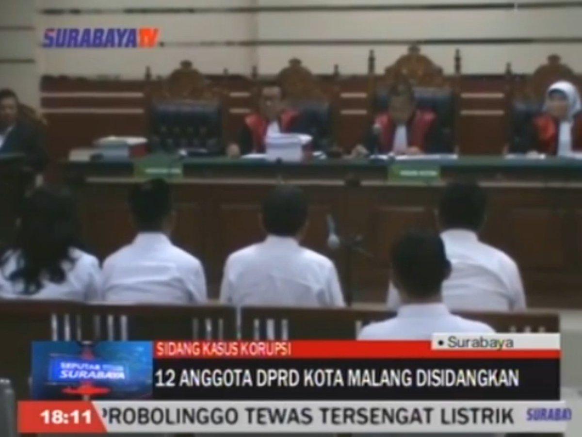 12 Anggota DPRD Kota Malang Disidangkan https://t.co/7X7nJnfJkt https://t.co/7UfazP1pGm