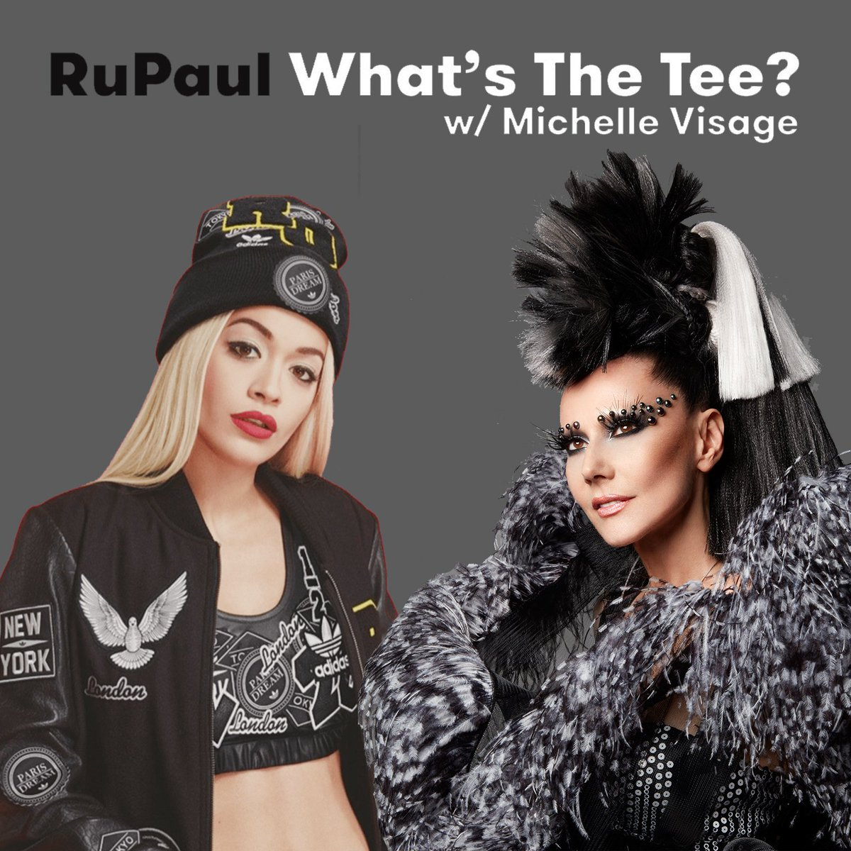RT @RuPaul: NEW????Suzanne Bartsch & @RitaOra ???? What's The Tee w/@michellevisage @bartscharama https://t.co/jAxdz4glYY https://t.co/JUb7kt0iHl