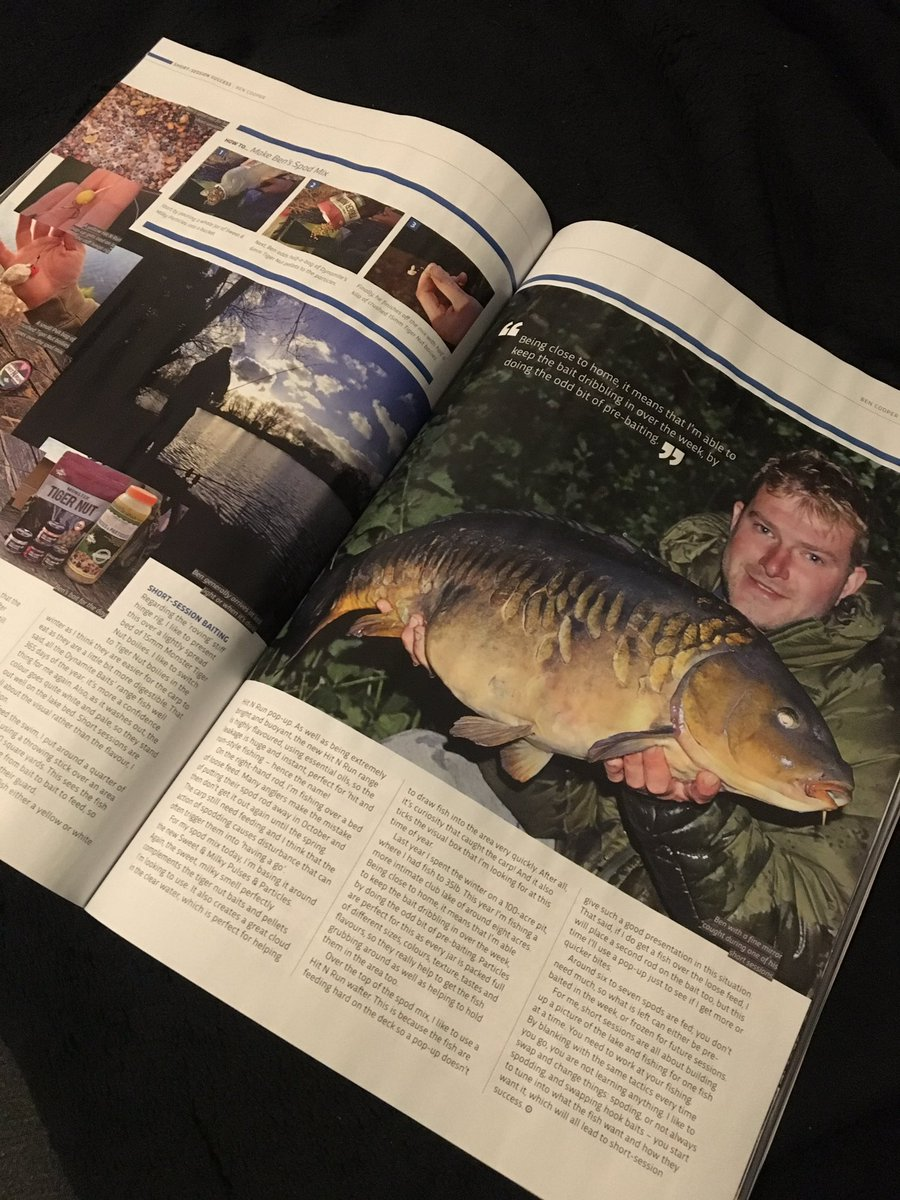 Check out my article Short Session Success in the new @TotalCarpMag  @DynamiteBaits #carpfishing htt