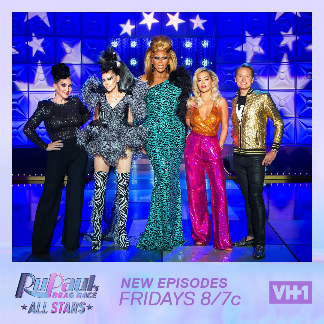RT @RuPaul: TONIGHT Suzanne Bartsch & @RitaOra @bartscharama 8pm #DragRace #AllStars4 @VH1 https://t.co/PSBGmproAM