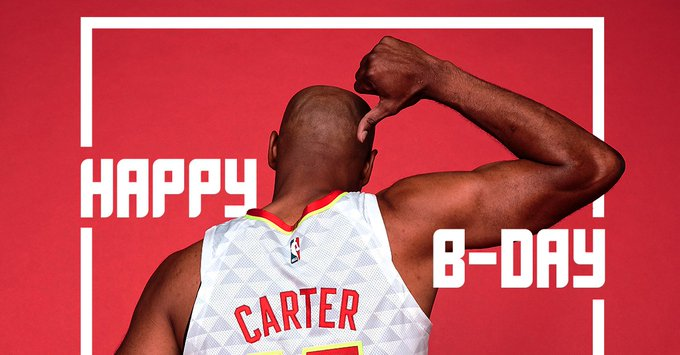 To join us in wishing happy birthday to half-man, half-amazing, Vince Carter! x