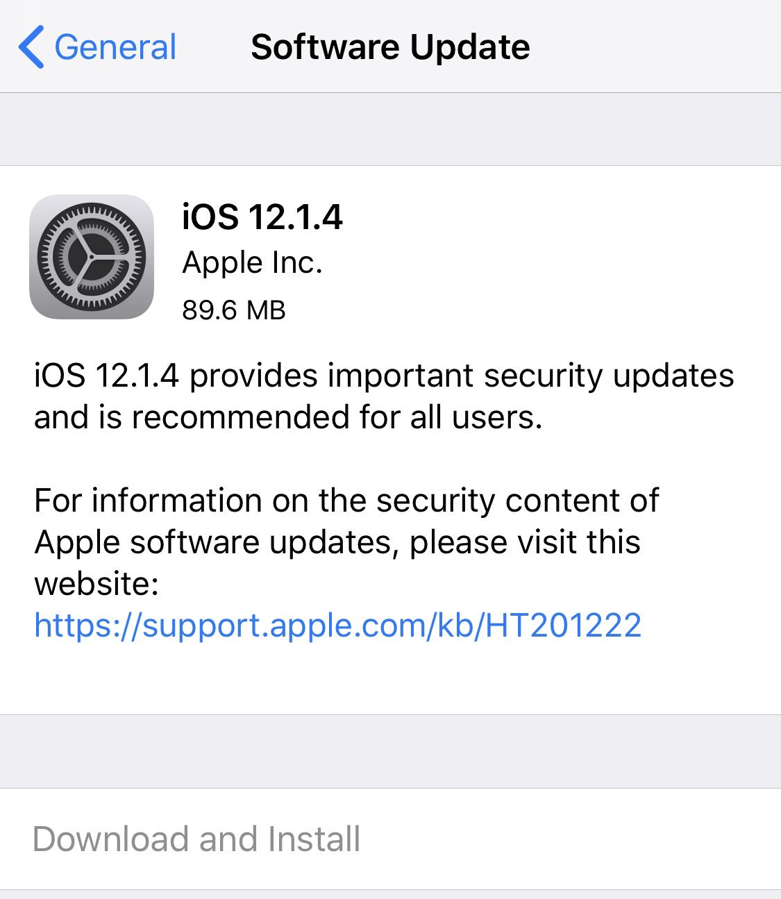 Apple has released iOS 12.1.4 with #Facetime Group Video Calling bug fix. #iPhone #iPad #iOS1214 #Security https://t.co/9KQuGxDRPR