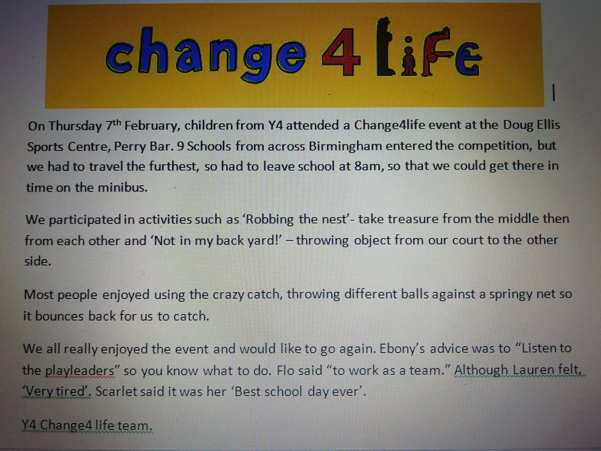test Twitter Media - Hollywood Change4Life report. @SportBirmingham  @KingsHeathSP  #bhamschoolgames https://t.co/gv7z9LhqDU