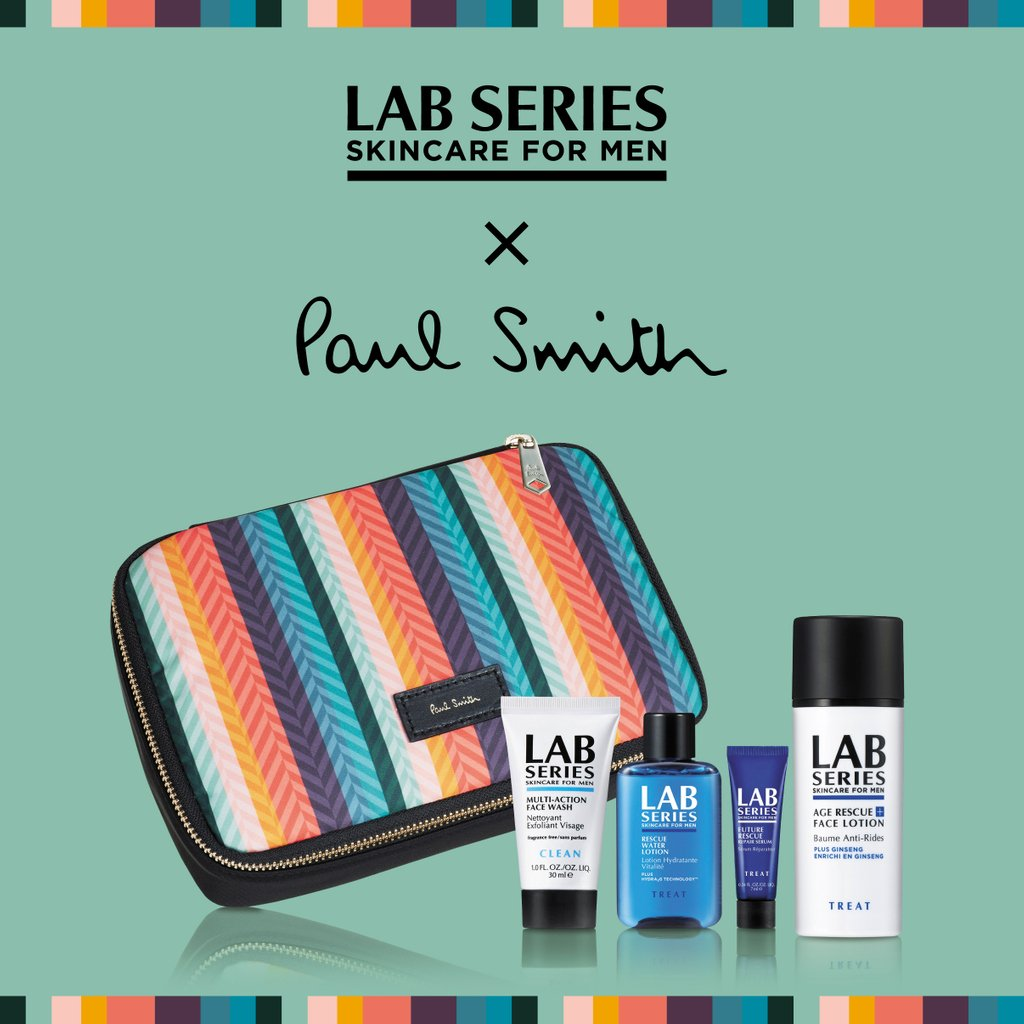 ラボ シリーズと@paulsmithjapan がコラボレーションした、「ラボ シリーズ × ポール・スミス スキンケア セット」。君はもうゲットした?バレンタインのプレゼントにお願いするのもいいかも!! #PaulSmith https://t.co/P7jFLOP7dL