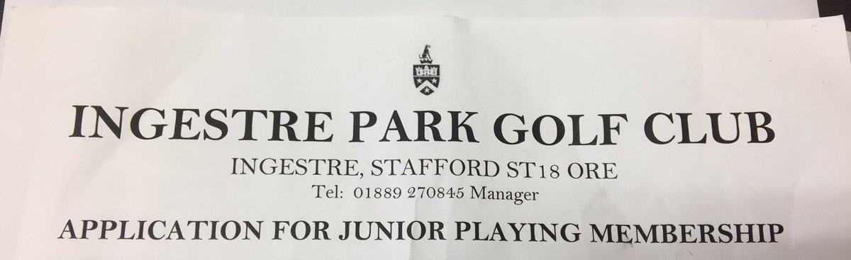 test Twitter Media - The Junior Section just keeps growing! Another form in today. Great that we are taking on new members even during the winter! #GrowtheGame #getintogolf  @MidlandsGolfer @EnglandGolf @EGWomensGolf @staffsgolf @GolfRootsHQ @GirlsGolfRocks1 @ThePGA @LadyGolferMag @IPGCourseupdate https://t.co/KaZLKlGsQ5