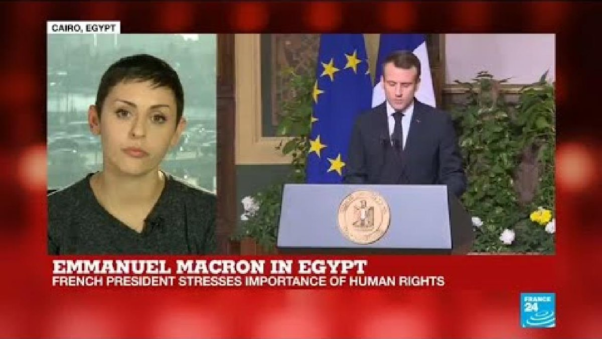 ?? Macron in Egypt: Human rights and terrorism among issues discussed