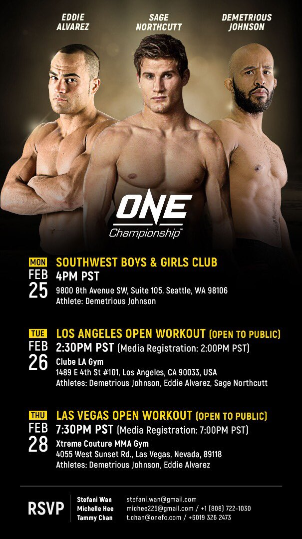 RT @marc_raimondi: ONE Championship is doing a promotional tour in the United States next month. Smart move. https://t.co/OwMYfsVXfC