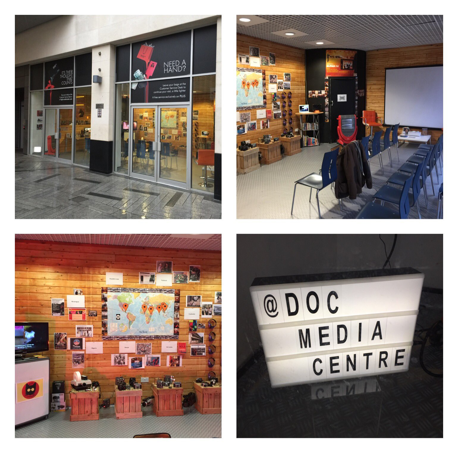 Here we go.....6 week pop-up 'Documentary Media Centre' in partnership with @Zinthiya_Trust located at @Highcross #Leicester ...... visitors coming from @dmuleicester @GatewayCollegeL #DocMedia2019 https://t.co/ZfJEnsqGUz