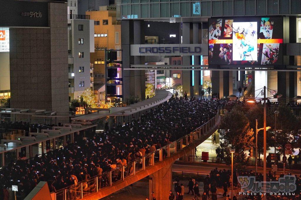 【悲報】秋葉原、キモヲタの大行列がヤバい