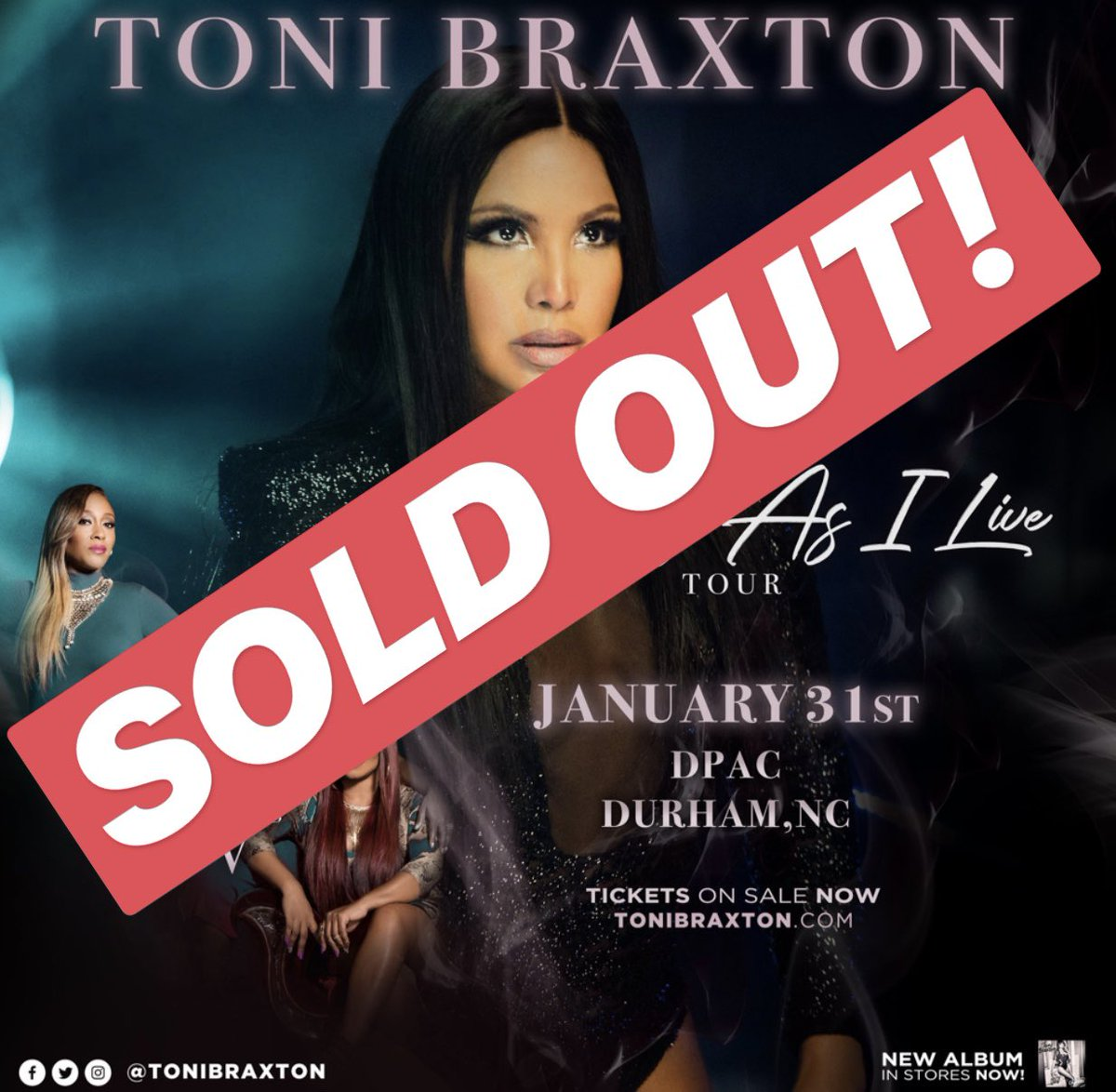 DURHAM, NC! Tomorrow's show at @DPAC is SOLD OUT! #AsLongAsILiveTour https://t.co/7Vy9lqCdGE