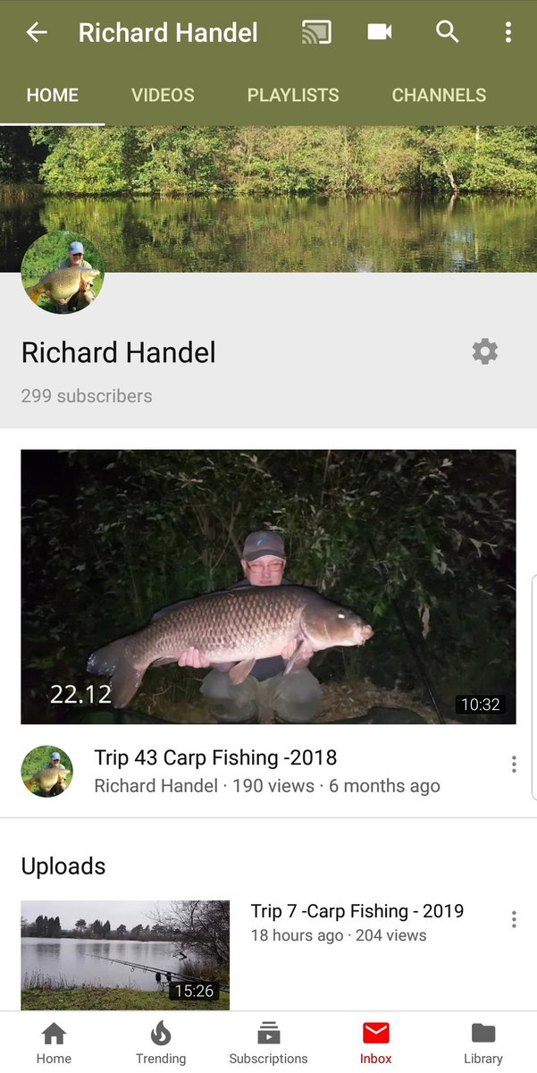 Just one more YouTube Subscriber need. #YouTube #richardhandel #subscribe #carpfishing #fishinglifes