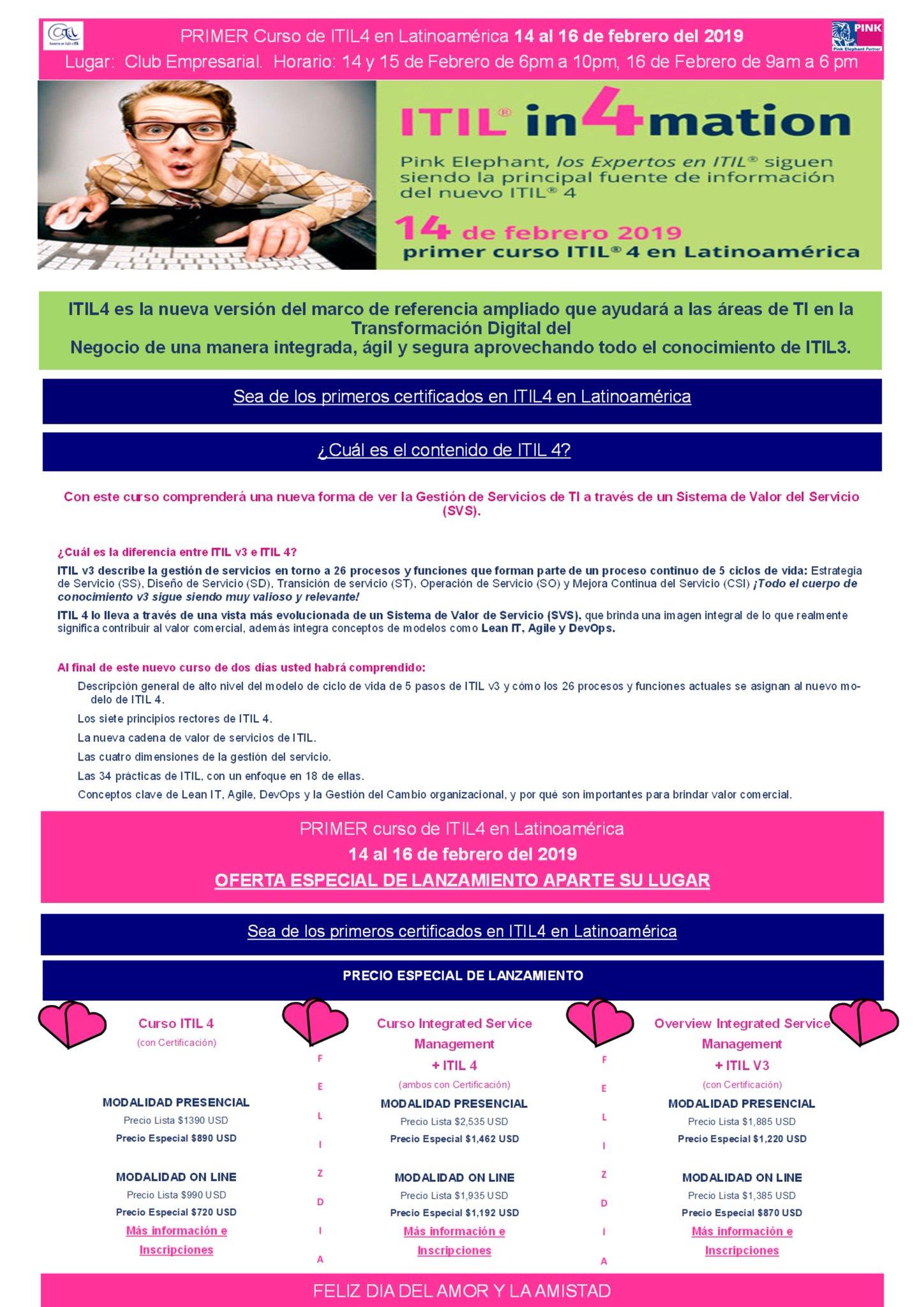 CURSO DE ITIL 4 - INICIO 14 DE FEBRERO https://t.co/rgNjBenfIa