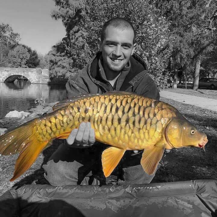 A beautiful mirror carp. #carpfishing #mirrorcarp #<b>Popup</b>boilie #americancarpangler https://t.