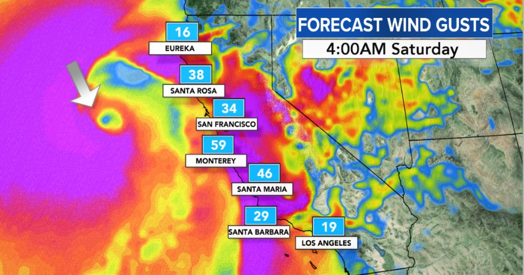 Storm likely to bring heavy rainfall, snow, hurricane-force wind gusts to California