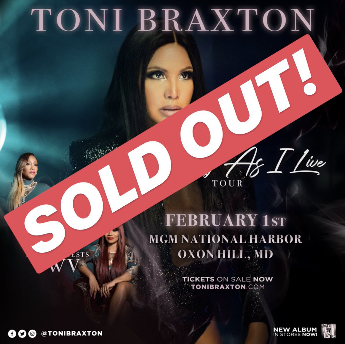 Back to back! Tonight's show at @MGMNatlHarbor is #SOLDOUT! ????????#AsLongAsILiveTour https://t.co/7rg0JLv2RO