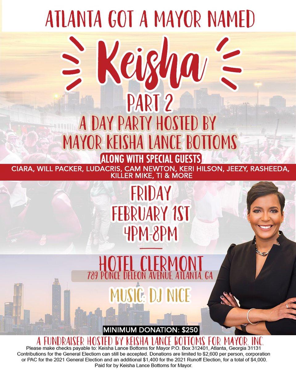 Today!!! @KeishaBottoms ♥️ #AtlantaGotAMayorNamedKeisha https://t.co/rhSTfsZpoX