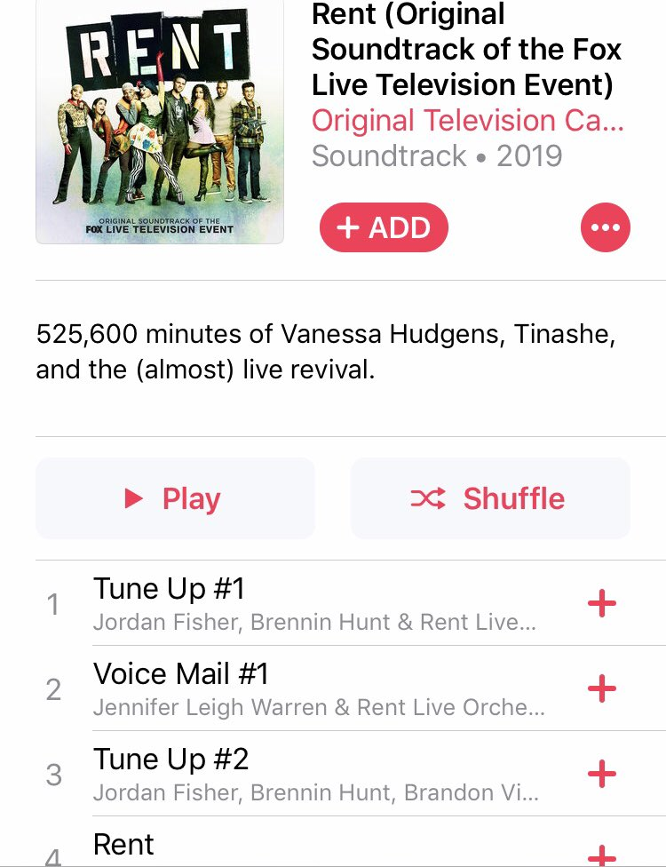 RT @VanessaHudgens: Yallll!!! Our cast album is on iTunes ready for your listening pleasure ????enjoyyyyy https://t.co/dzFdY7yWyH