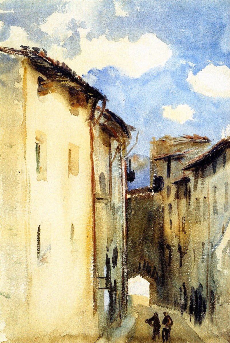 John Singer Sargent  Camprodón,Spagna (1892).   - National gallery of art,Washington D.C. - https://t.co/YfB6ukLlde