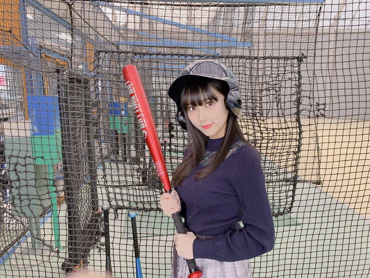 田中美久ちゃん、バッティングセンターで2つのボールがめっちゃ大きい件wwwwwww