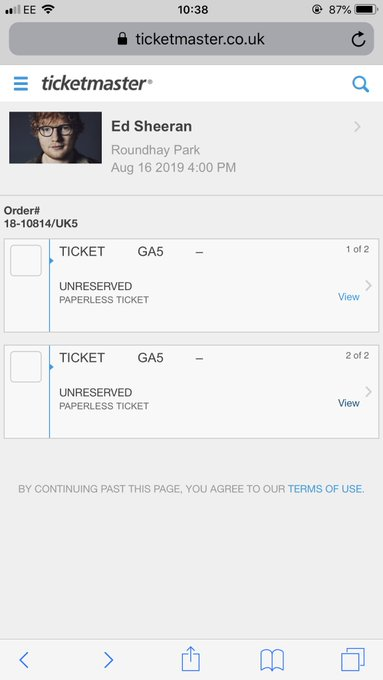 Little early birthday present for going to see Ed Sheeran in August happy days