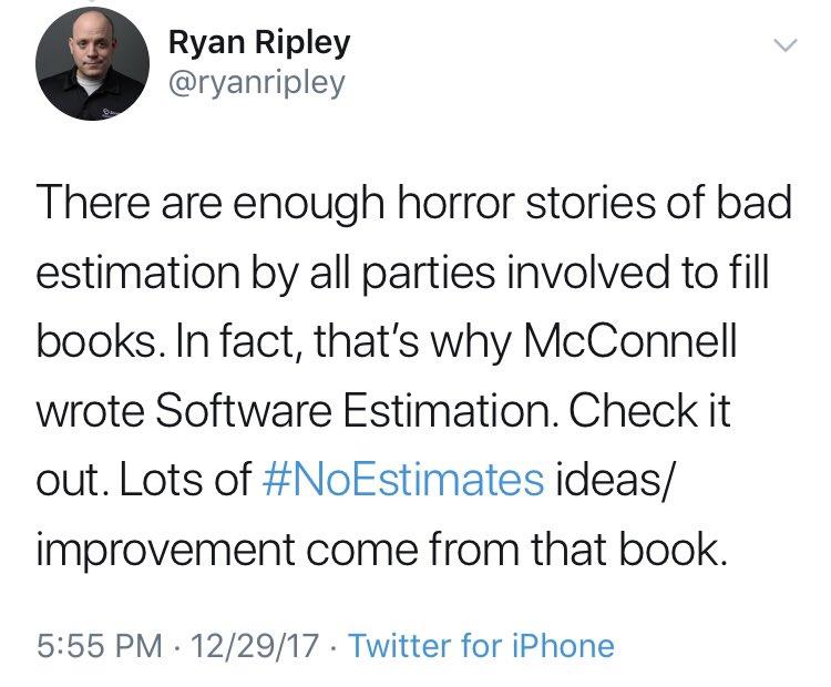 test Twitter Media - @smonux Algunos promotores de #NoEstimates lo reconocen. Al menos los que parecen haberlo leído. https://t.co/u7ofdkDbQ9