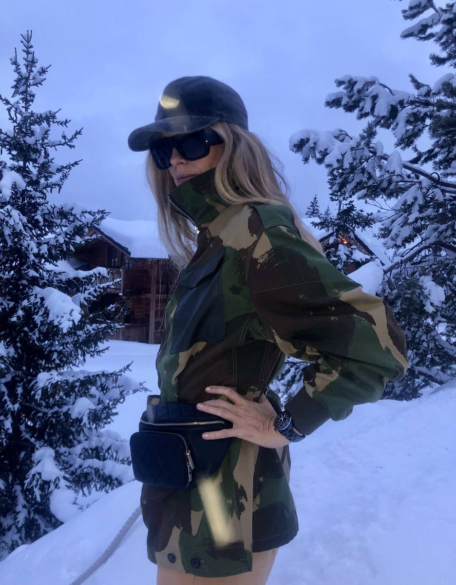 Chic in the snow! @laurabailey_uk suits up in #VBPreSS19 camo! https://t.co/WJWY1MhCso @BritishVogue x VB https://t.co/kKQNUxZEph