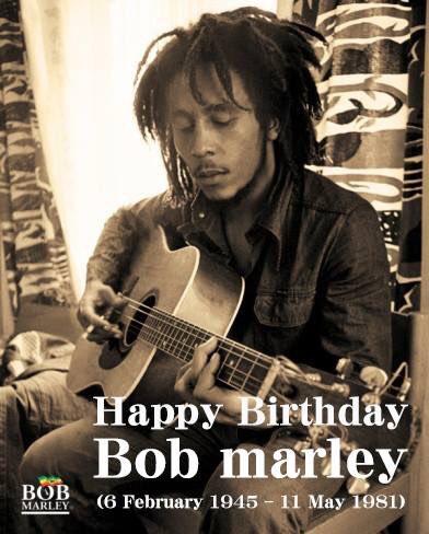 Happy Birthday Bob Marley  (6 February 1945 11 May 1981)