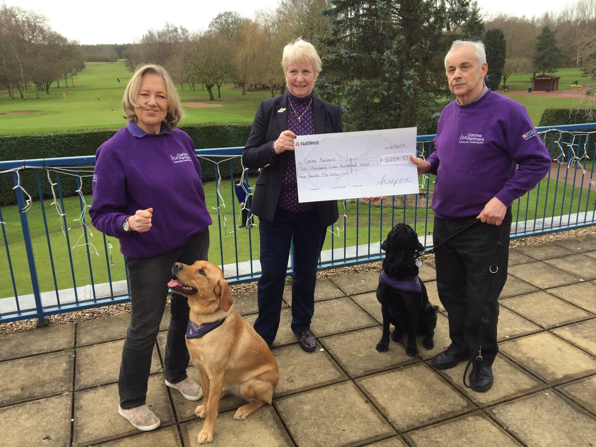 test Twitter Media - Patricia Yates, 2018 Lady Captain presented a cheque today to her Lady Captain's Charity - @canine_partners  Great charity, fantastic fundraising. Well done all! #caninepartners #MGSocial @MidlandsGolfer @EnglandGolf @EGWomensGolf @staffsgolf @LadyGolferMag https://t.co/tkKz6xVGDU
