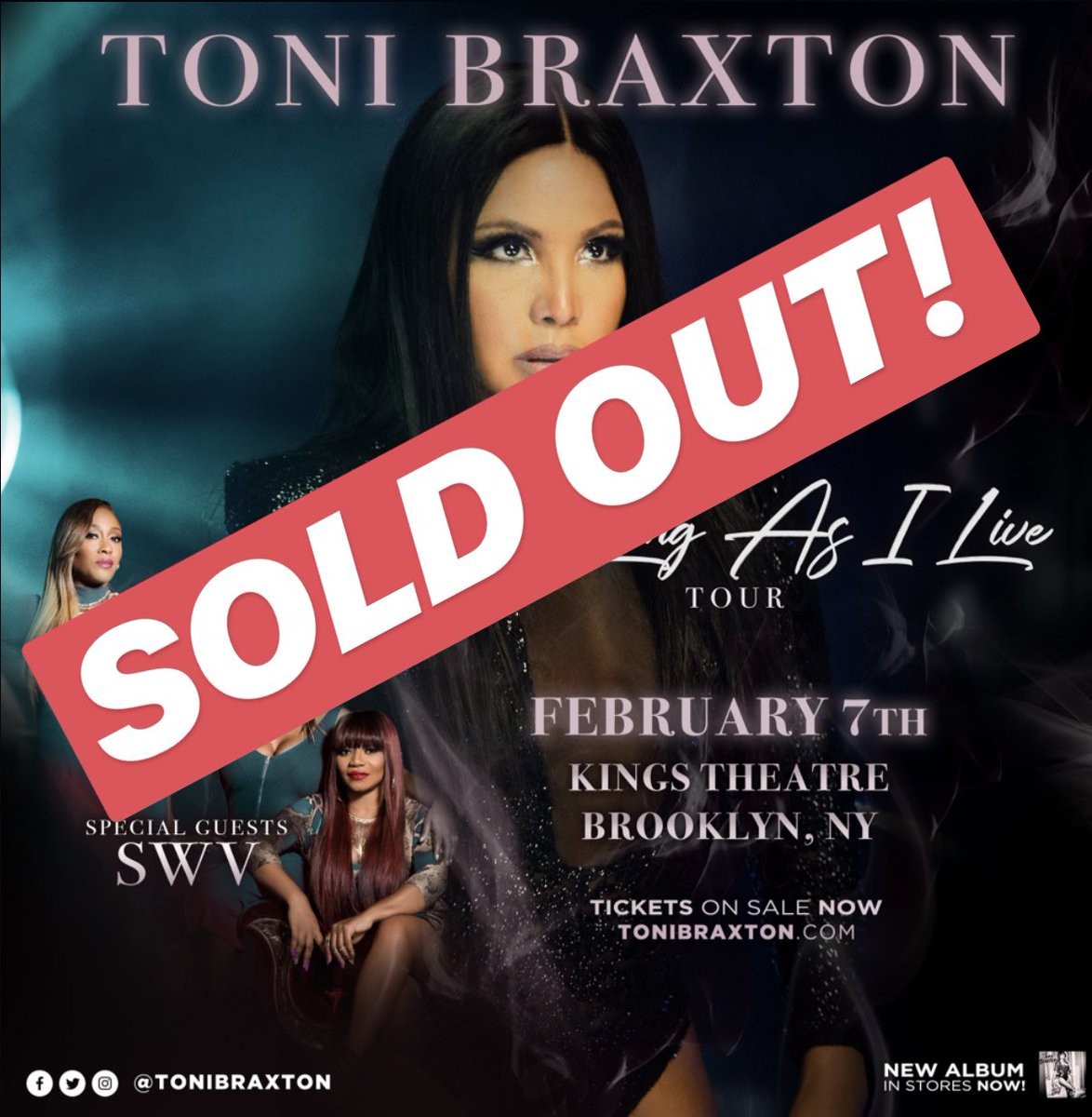 SOLD OUT! @KingsBklyn #AsLongAsILiveTour https://t.co/l14esbmNrb