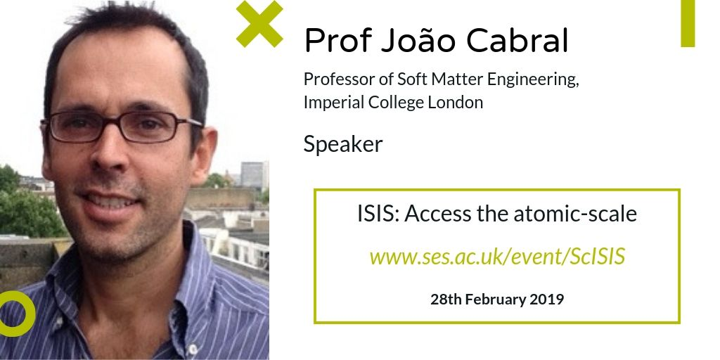 test Twitter Media - Working in Chemical Engineering and/or Soft Matter Physics? Prof João Cabral joins us at #ISISatomic from @ImperialChemEng to talk about investigating soft matter with Microfluidics & Scattering methods @isisneutronmuon. To register, visit: https://t.co/HTZjBcUoya https://t.co/8f8zBagbfD