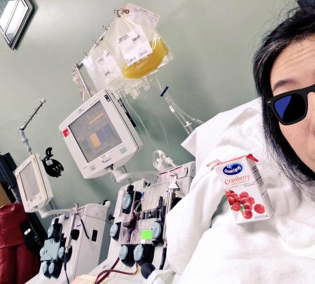 Juice box nap! #Platelet-ting before #cicLAvia Culver with kindly #cedarsSinai nurses 🏥👩⚕️ https://t.co/tqOrJb6Rv6