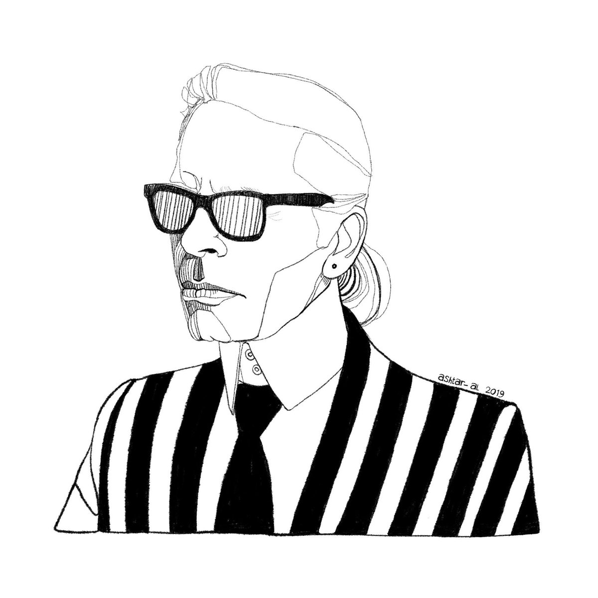 RT @HITRECORD: A true legend ???? RIP #karllargerfeld https://t.co/ZHn0D0mMoA   Illustration by @Ashtar_AlAhmad https://t.co/MHmQxRKkJ8