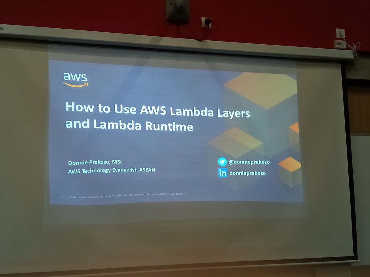 Learning AWS Lambda with @donnieprakoso . Thank you for the knowledge. https://t.co/gVeKnWzJVp