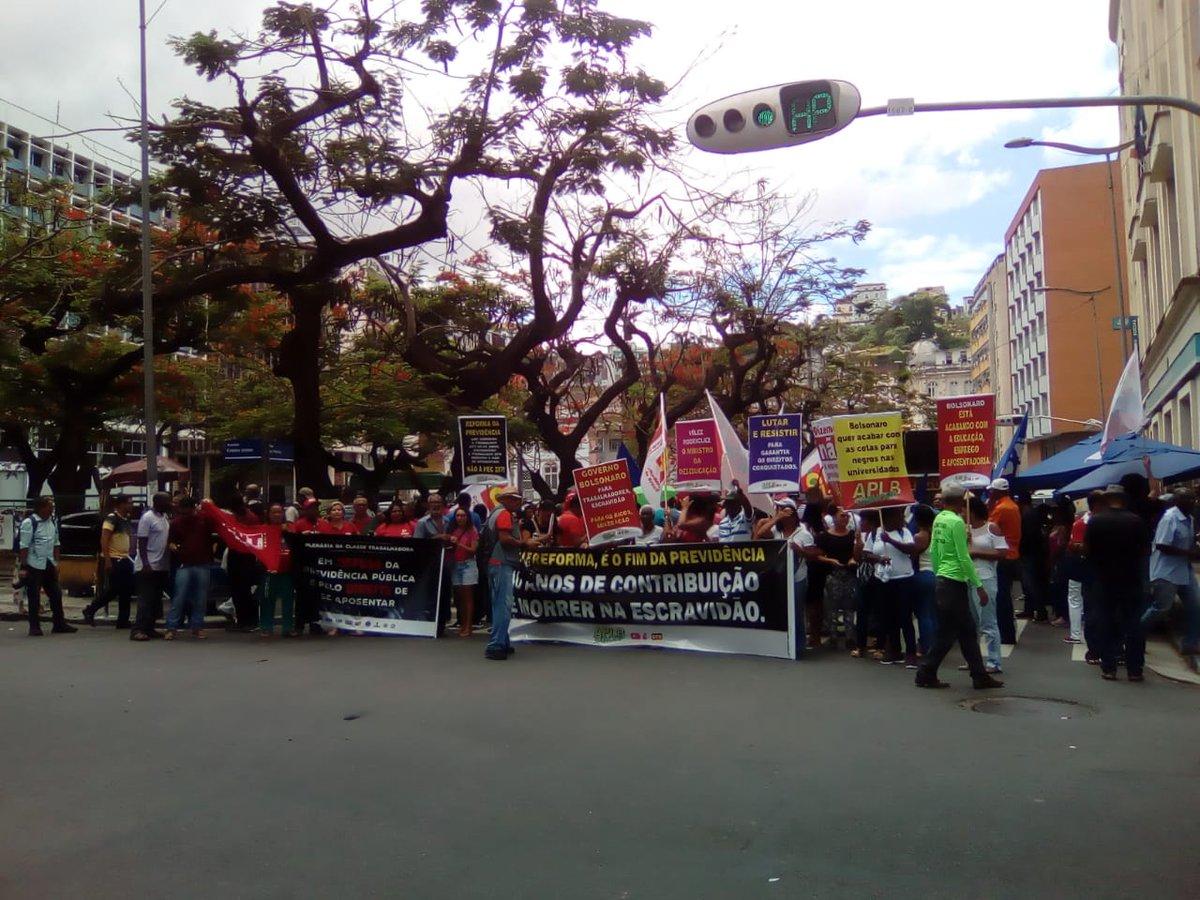 Ato em #Salvador em defesa da Previdência Pública e contra o fim da aposentadoria. #ReajaOuSuaPrevidênciaAcaba https://t.co/zQtwQ1AikI