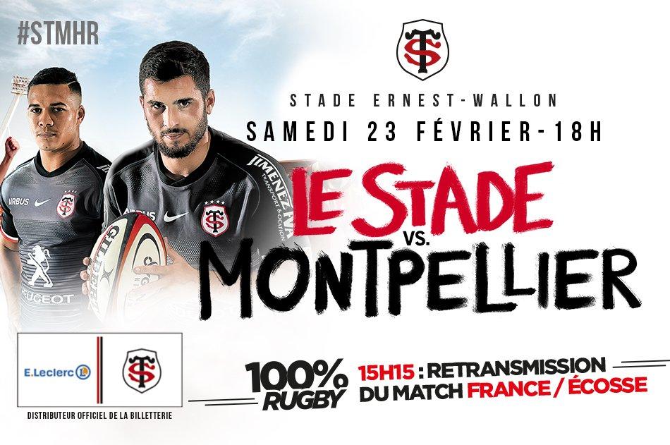 La rencontre #STMHR, c'est samedi 23/02 à 18h au stade Ernest-Wallon !  RT pour tenter de gagner 3*2 places VIP pour ce choc de la #J17 de @top14rugby ! 😉