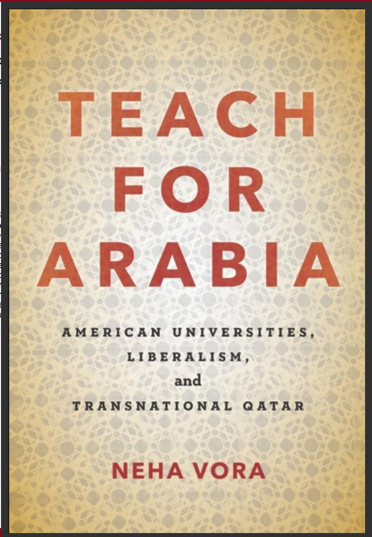 test Twitter Media - Tomorrow at 11:50 in Boger 112, Neha Vora, Associate Professor of Anthropology at Lafayette College and Wes alumna, will present on her recently published second book, Teach for Arabia: American Universities, Liberalism, and Transnational Qatar #WesAlumni #CardinalPride https://t.co/LM6NFzeBao