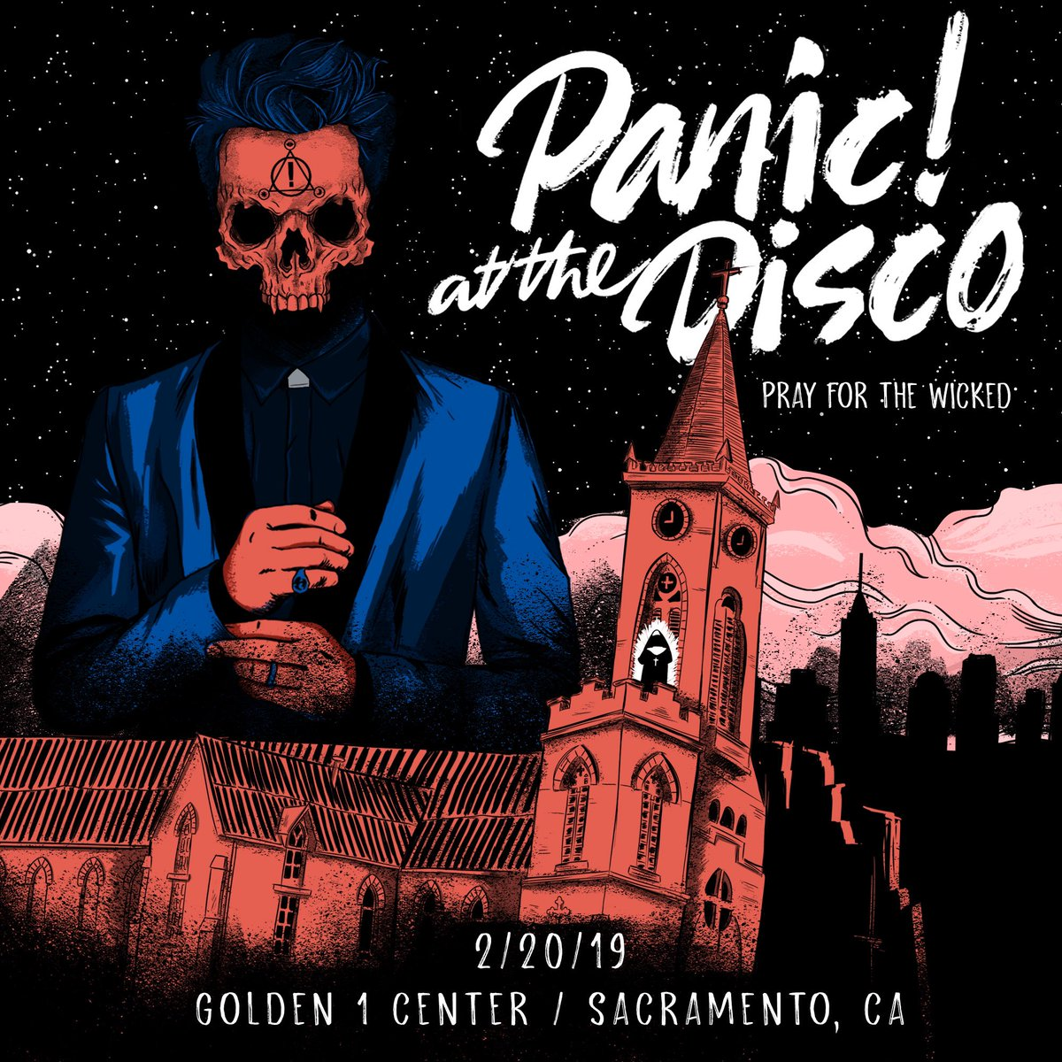 RT @Golden1Center: 🎵 Well this calls for a toast 🎵  See you TONIGHT for @PanicAtTheDisco! #PrayForTheWicked https://t.co/HJmcZzoUf0