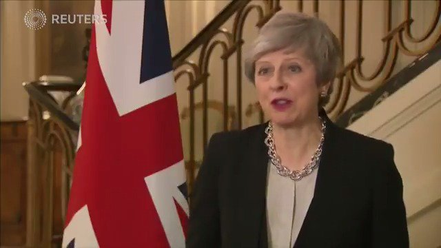 British PM Theresa May in Brussels addresses Brexit, party defections