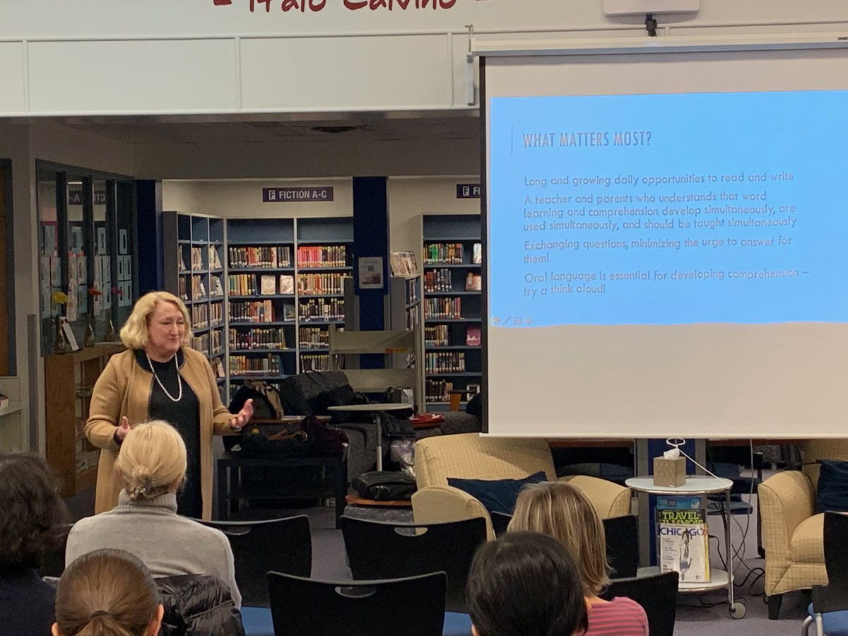 test Twitter Media - Thanks @EllinKeene for joining us this evening to help parents build our children's reading lives together #d30learns https://t.co/juY0Qc5xI9