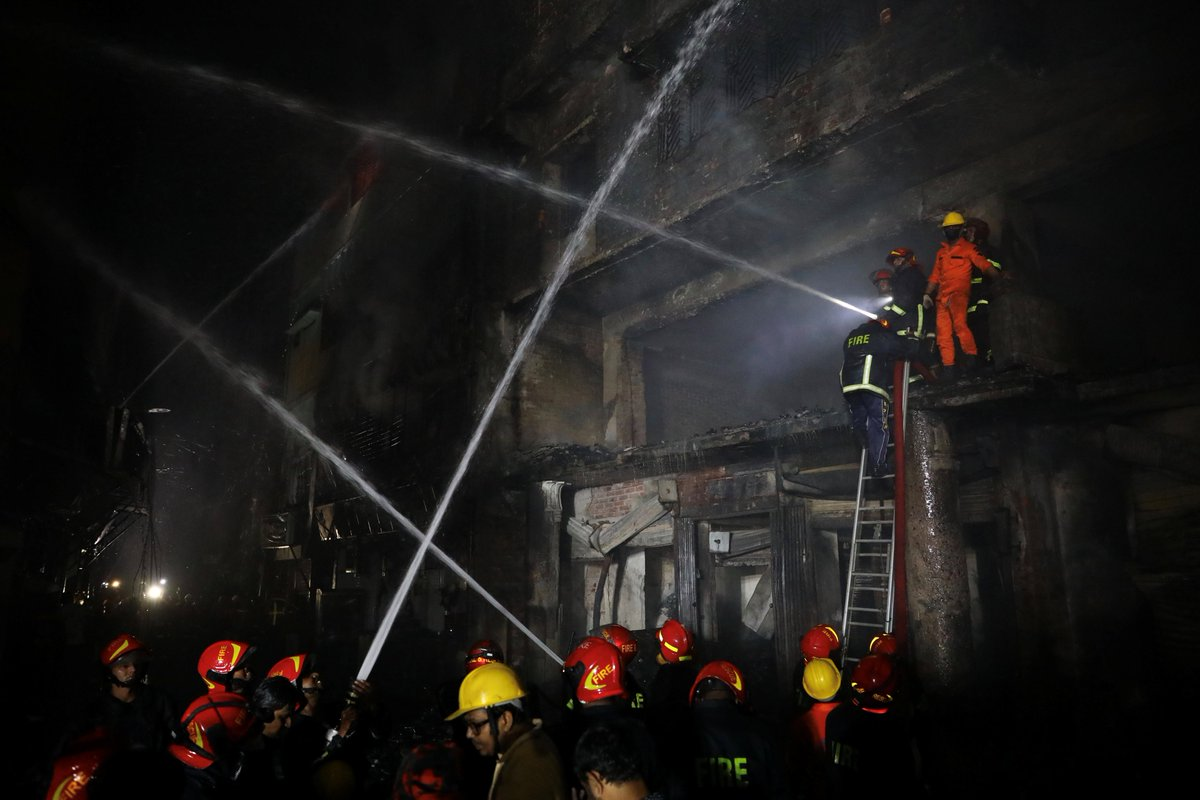 At least 69 people killed in devastating fire in heavily-congested part of Dhaka