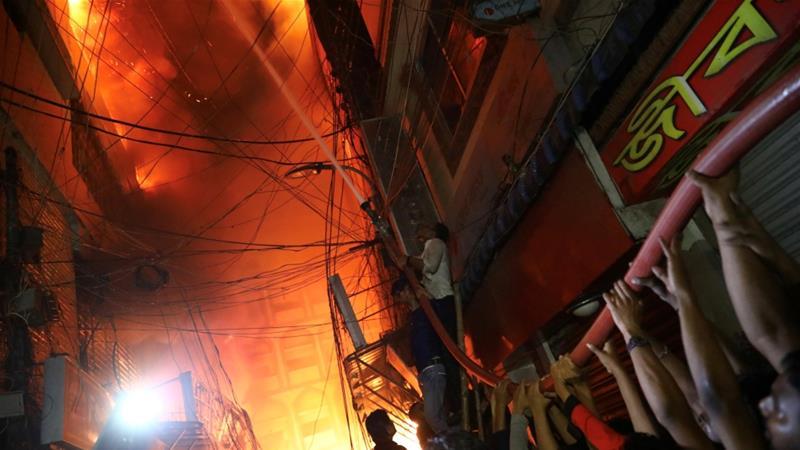 Huge fire kills scores in old part of Bangladeshi capital Dhaka