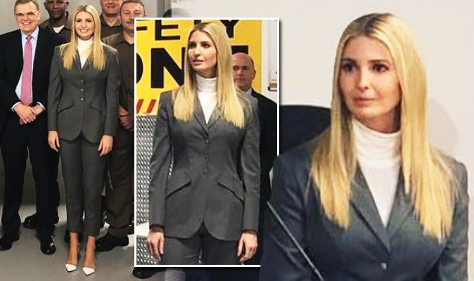 Ivanka Trump wears grey suit to work on her mother's 70th birthday https://t.co/nPQU658gYd https://t.co/kg719PpJg3