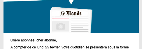 "test Twitter Media - ""Dear subscribed"": This morning's email brought a notice from Le Monde, to which I apparently subscribe: Two things struck me about the salutation ""Chère abonnée, cher abonné"". The more obvious and less interesting one is that Le Monde is obviously not… https://t.co/fr27tNguIQ https://t.co/Z1EzLkGDgR"