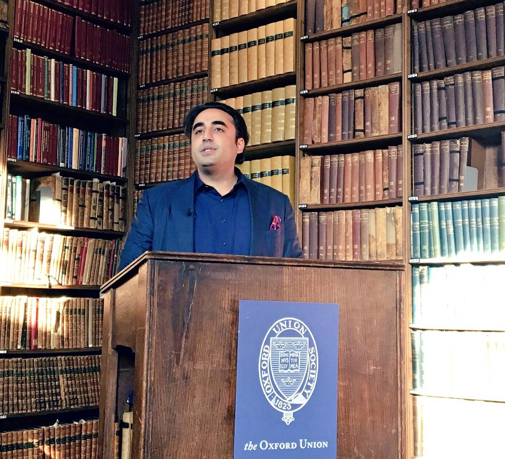RT @Majid_Agha: Chairman PPP @BBhuttoZardari addressing during interactive session with @OxfordUnion in UK. https://t.co/5HNzx6GNvn