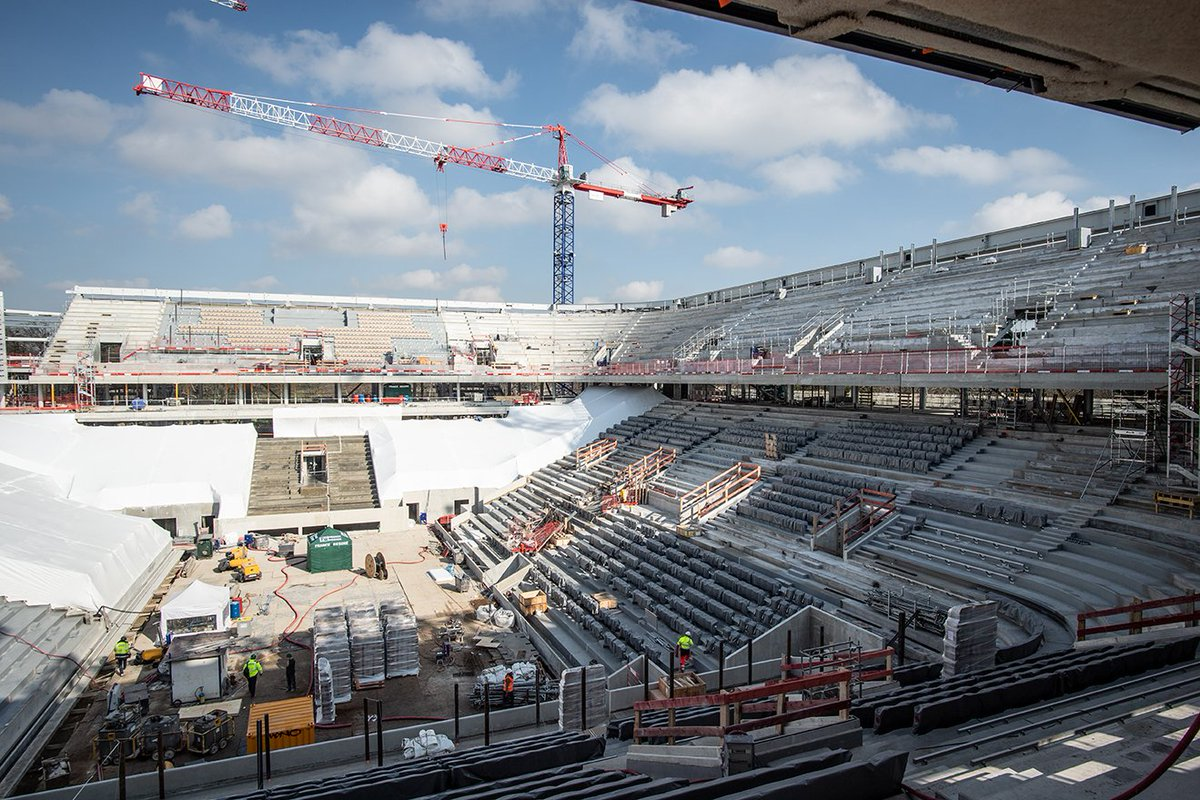 test Twitter Media - @RolandGarros confident this $170 million phase of Philippe Chatrier will be completed by start of the #FrenchOpen in May.  Retractable roof addition expected for 2020 tournament. https://t.co/zedClUzXCK