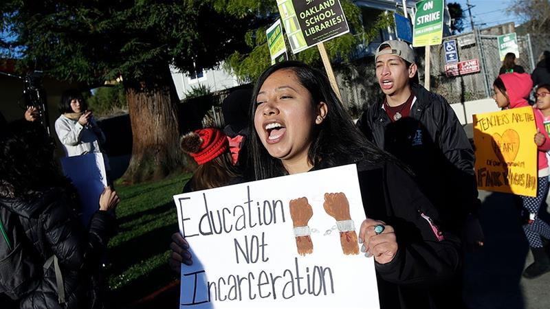 Oakland teachers walk out in latest educator strike to hit US