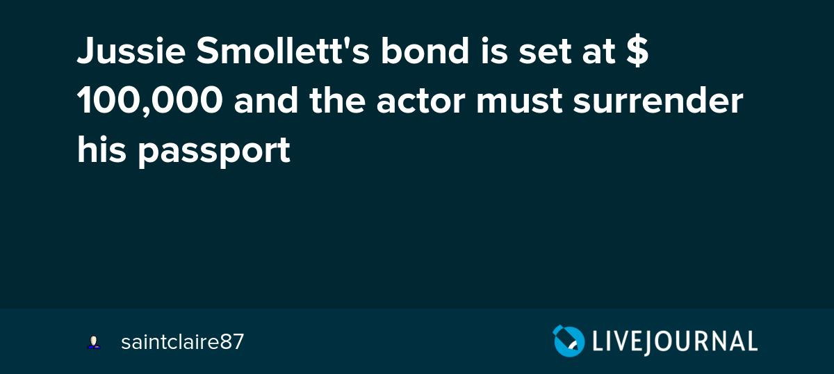 test Twitter Media - Jussie Smollett's bond is set at $100,000 and the actor must surrender his passport https://t.co/Ogj08F5P0U https://t.co/A8E7f54zXO