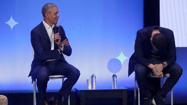 Barack Obama tells boys: 'You don't need eight women around you twerking'
