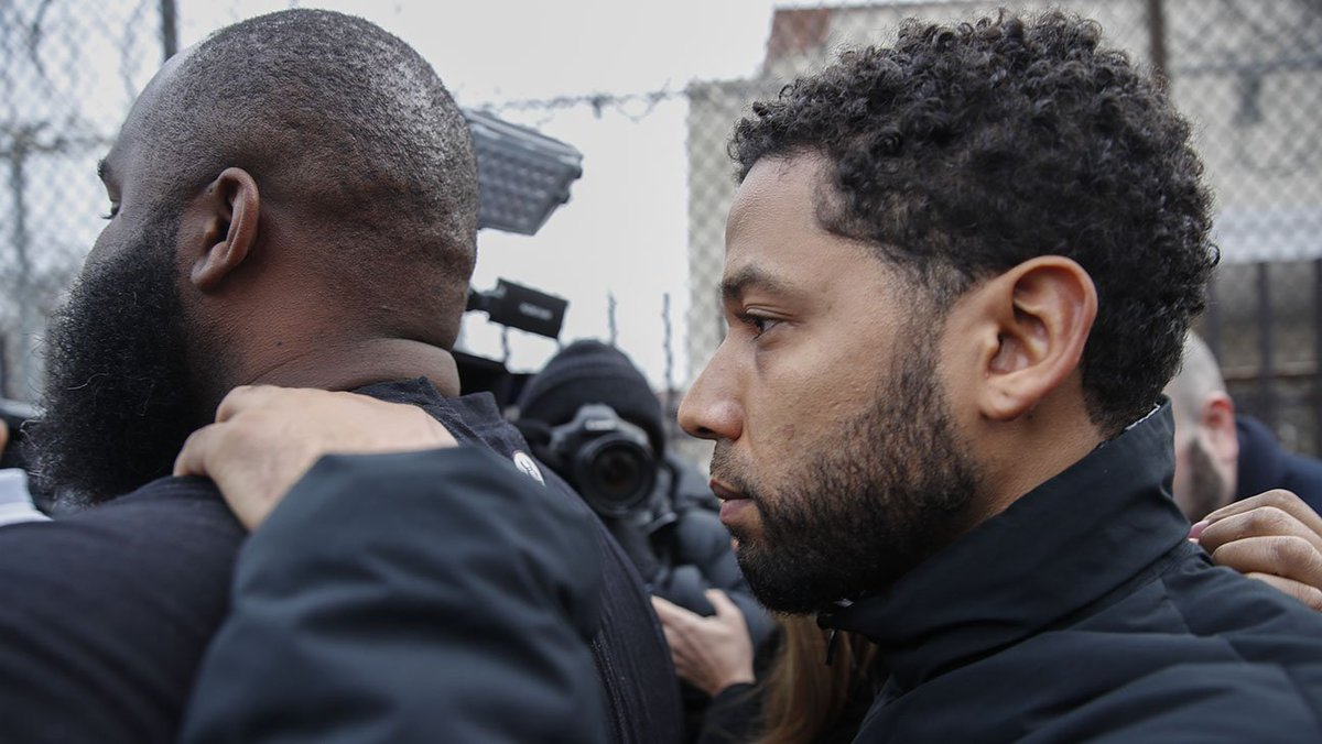 Jussie Smollett back on Empire set after posting bail
